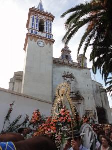 Chipiona disfrutó plenamente de la Romería del Pinar en su cincuentenario canónico