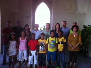 La Corporación recibe a los niños saharauis que pasan sus vacaciones en Chipiona