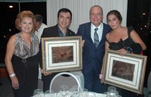 ESTRELLA MORENTE Y  EL PINTOR ANTONIO MONTIEL ELEGIDOS «ANDALUCES DE PRIMERA»