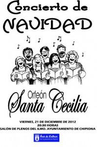 Cultura programa un concierto del Orfeón Santa Cecilia para el 21 de diciembre