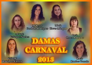 Elegidas seis damas que optan a ser Perla del Carnaval 2013