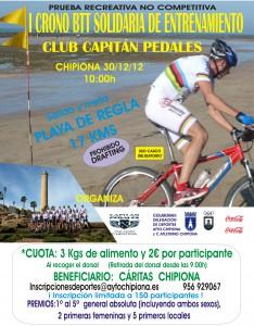 Deportes y Capitán Pedales organizan una Crono Ciclista Solidaria