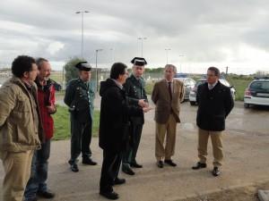 El Subdelegado visita las obras de reforma del cuartel de la Guardia Civil de Chipiona