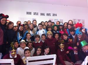 Expuestos los carteles de alumnos de primaria que optan a anunciar el carnaval infantil 2014