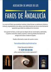 La Asociación de Amigos de Faros de Andalucía edita un folleto informativo