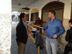 Javier Díaz aclara que la reforma de la Plaza de Abastos se realiza por ser inviable el traslado al nuevo mercado