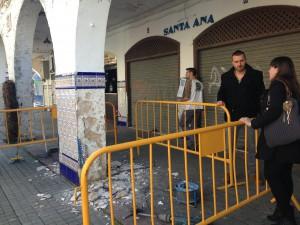 Comienza la reparación de la fachada y la cubierta del mercado municipal de abastos