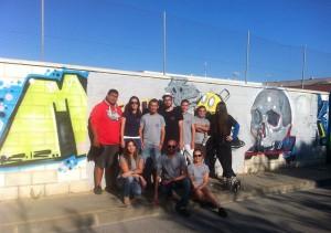 Juventud realiza un taller de grafiti contra el tabaco dentro del programa Chipiona sin drogas