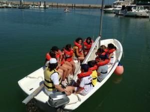 Hoy ha comenzado el novedoso programa de vela escolar con el Colegio Argonautas
