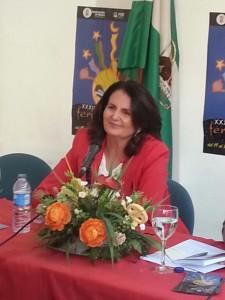 """Ana María Gutiérrez Toscano, autora de la novela """"En otro tiempo, en otro lugar"""".-"""