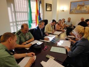 El Subdelegado del Gobierno participa en la preparación de los dispositivos de seguridad del Supercross y la Fiestas de Regla