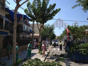 El Ayuntamiento prepara la explanada del Santuario para las fiestas de Regla que comienzan el próximo jueves