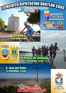 El Duatlón Cross Playas de Chipiona  será uno de los tres que conformen el primer Circuito Provincial