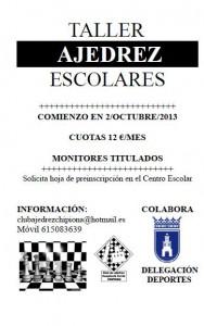El club local  lanza talleres escolares de ajedrez para el curso que acaba de iniciarse