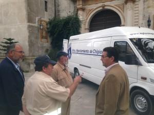 Presentada una nueva furgoneta para el servicio de la delegación de Fiestas