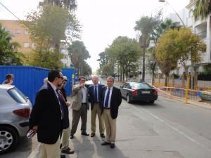 El Subdelegado del Gobierno visita las inversiones estatales en Chipiona
