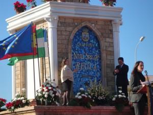 Una réplica de Nuestra Señora de Regla da la bienvenida desde ahora a la llegada a Chipiona
