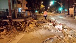 El Ayuntamiento de Chipiona evalúa los daños del temporal de la madrugada del domingo