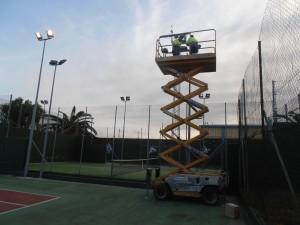 Concluyen los trabajos de adecuación y reposición de la iluminación de las instalaciones deportivas municipales