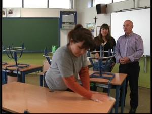 Educación llevó a cabo la limpieza general programada en los colegios de la localidad durante las vacaciones de Navidad