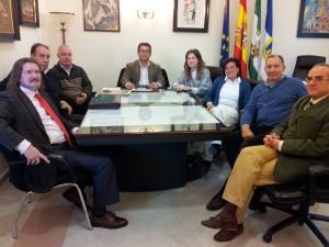 La Fundación Puerta de América presenta al Alcalde de Chipiona su programa de actividades