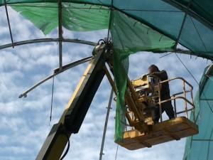 Desmontada la estructura de la cubierta de la Plaza de Abastos por razones de seguridad