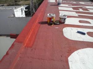 Deportes acomete trabajos de impermeabilización en los techos de las instalaciones deportivas municipales de Chipiona