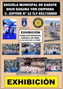 Más de 100 alumnos participarán en Chipiona en una exhibición de la Escuela Municipal de Kárate Dojo Sakura Yon
