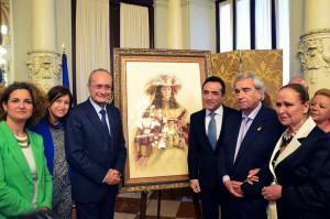 ANTONIO MONTIEL PINTA EL CARTEL DEL XXV ANIVERSARIO DE LA HERMANDAD DEL ROCIO LA CALETA DE MALAGA