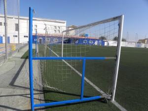 Deportes moderniza la estructura móvil de las porterías de fútbol 7 del Gutiérrez Amérigo