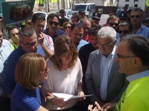 Los afectados por los impagos de la Mancomunidad reclaman a las presidentas del ente y la Junta el pago