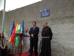 Inaugurada la calle con el nombre de Fray José Ramón Martínez de Tobillas