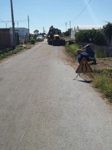 El Ayuntamiento de Chipiona comienza el arreglo del Camino del Olivar