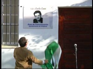 El Edificio Municipal de la Radio Televisión Municipal ya lleva el nombre del Cantautor Carlos Cano.