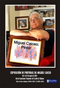 El actor y humorista Miguel Caiceo expondrá parte de su obra pictórica en el Castillo desde este viernes y hasta el 15 de agosto próximo.