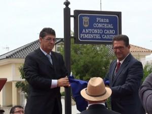 """Inaugurada la plaza Antonio Caro Pimentel """"Carito"""" como reconocimiento a su trayectoria humana y política"""