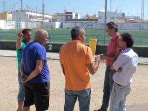 Deportes coordina con Servicios y el Chipiona las actuaciones de puesta a punto en el Gutiérrez Amérigo