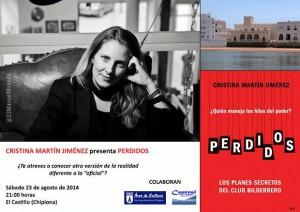 Cristina Martín Jiménez presenta este sábado en el Castillo de Chipiona su libro Perdidos