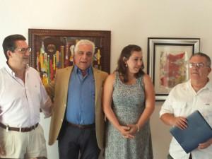 Inaugurada la exposición pictórica del actor Miguel Caiceo que estará abierta hasta el próximo día 15