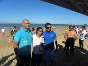 25 nadadores realizaron los 2500 metros de la séptima Travesía Salmedina-Chipiona