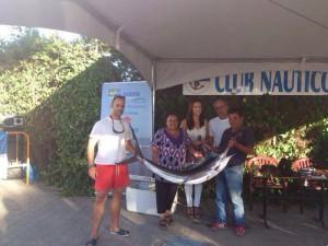La Cocina Solidaria recibe las capturas del Open Ciudad de Chipiona de Curricán de Altura