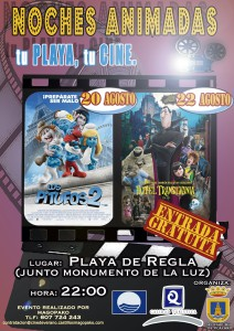 Playas y Cultura ofrecerán la semana próxima cine infantil en la playa de Regla
