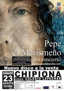 Pepe el Marismeño actuará el 23 de agosto en Chipiona a beneficio de la Asociación de Familiares de Enfermos de Alzheimer.