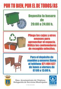 El Ayuntamiento vuelve a solicitar la colaboración ciudadana en el respeto de las normas de uso de contenedores de basura