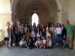 Las Damas del Rosario de Rota visitan los lugares más representativos de la historia y la cultura de Chipiona