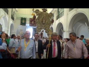 200 personas participaron en la misa oficial anual en Almonte de la Hermandad  del Rocío de Chipiona