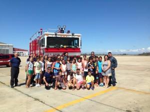 Los 18 alumnos con mejores notas en inglés finalizan su programa de actividades con la visita a la Base Naval de Rota