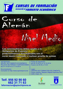 Fomento abre las inscripciones para un nuevo curso de alemán de nivel medio