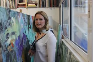 La pintora sevillana Angela Mena abre las puertas de su estudio en la C/ Rosario