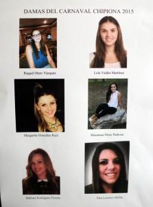 Elegidas las seis damas que optarán a ser Perla del Carnaval de Chipiona de 2015